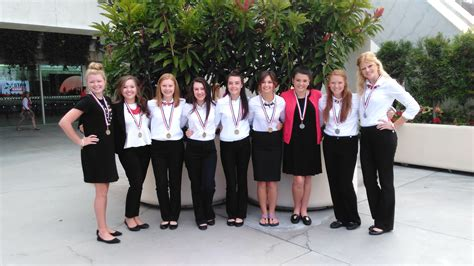 wchss fccla chapter brings home gold silver medals national