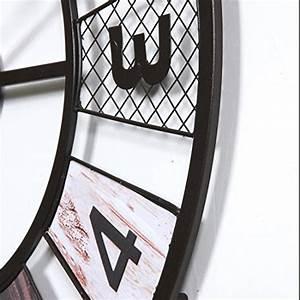 Wanduhr Vintage Groß : wanduhr xxl lautlos teckpeak gro e wohnzimmer wanduhr xxl wanduhr gro vintage 60 cm 8 ~ Whattoseeinmadrid.com Haus und Dekorationen