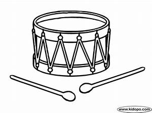 Free drum outline coloring pages