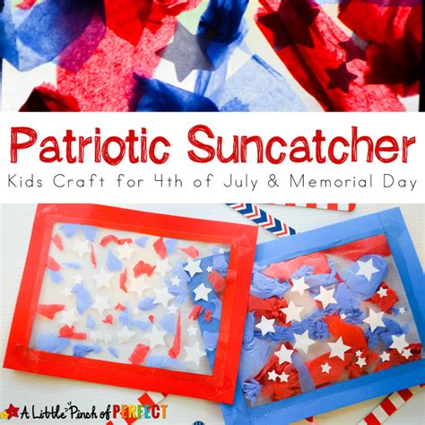 patriotic suncatcher craft for fourth of july 545 | Patriotic Suncatcher Kids Craft A Little Pinch of Perfect 7