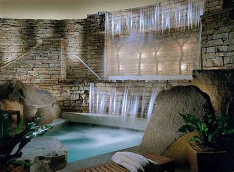 serene escape indoor waterfall dream home pinterest