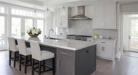 white kitchen cabinets with island white kitchen grey island home gray island k c r 2075
