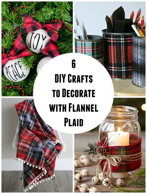 diy crafts  decorate  flannel plaid   takes