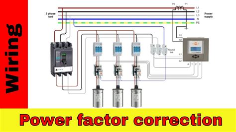 wire power factor correction panel youtube