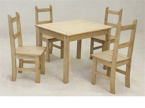 wooden square solid pine dining table   chairs