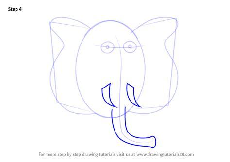learn   draw  elephant cartoon zoo animals step