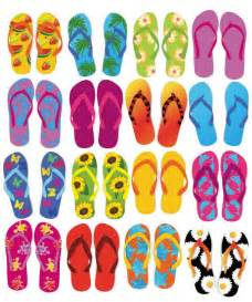 flip flop design colorful flip flops vector set free vector graphics all free web resources for designer