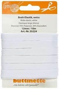 Gummiband Länge Berechnen : buttinette gummiband breit elastik wei breite 12 mm l nge 10 m online kaufen ~ Themetempest.com Abrechnung
