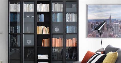 billy oxberg bookcase black brown bookcases storage