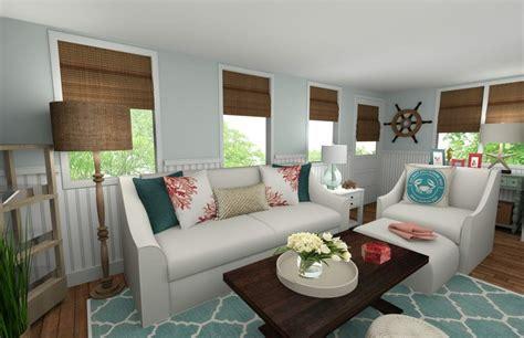 Online Interior Designer Beach Style Living Room  Decorilla