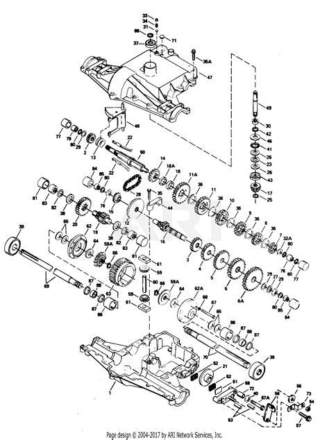 poulan xegvar tractor parts diagram  transaxle