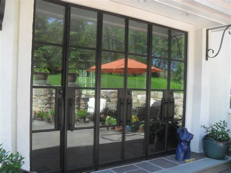 portella exterior steel door modern patio newark