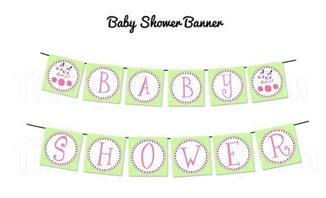 Girl Baby Shower Banner Clip Art