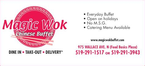 magic l menu magic wok restaurant menu hours prices 975