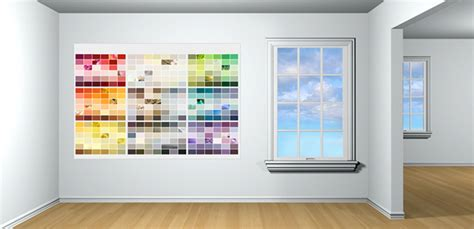 glidden paint has a color visualizer for a room in which you can try different colors and