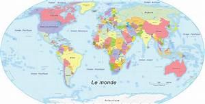 Carte Du Monde Noir : carte du monde voyages cartes ~ Teatrodelosmanantiales.com Idées de Décoration