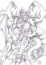 Demon Drawings Coloring Pages Nidhogg Deviantart Dragon Drawing Anthro Adults Printable Dark Colouring Draw Grown Ups Draconian Side Demons 2005 sketch template