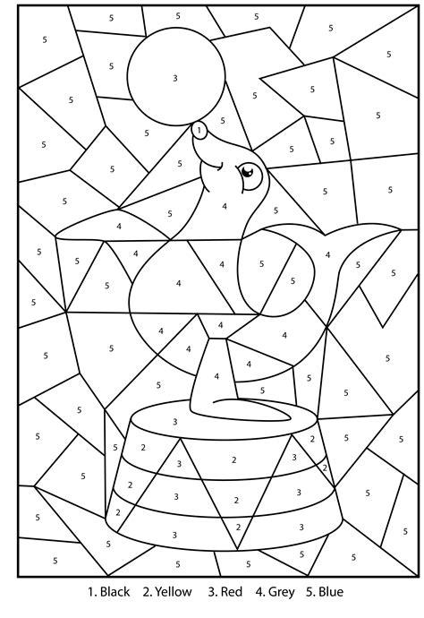disegni numeri da colorare per bambini colora coi numeri la foca giochi gratis da stare per