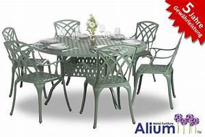 Gartentisch Mit 2 Stühlen : alium washington runder gartentisch in gr n mit 6 st hlen 799 99 ~ Frokenaadalensverden.com Haus und Dekorationen