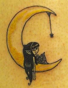 Crescent Moon Man Tattoo
