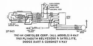 Power Seat Wiring Diagram Of 1961 64 Chrysler Corp All