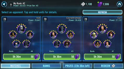 pvp team star wars galaxy  heroes forums