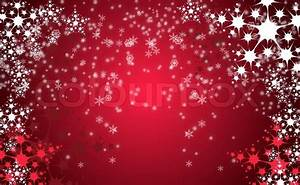 Red christmas background with white snow flakes   Stock ...