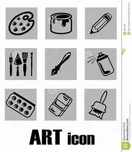 Art Icon Supplies Royalty Free Stock Image - Image: 30911286