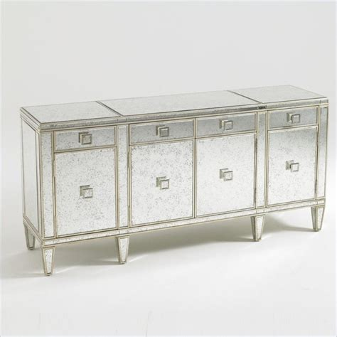 Mirrored Sideboards And Buffets by Aquarius Polaris Mirrored Buffet In Antique Mirror Gold