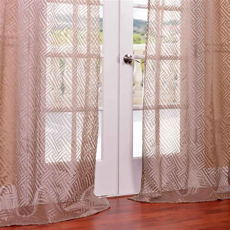 Patterned Curtains And Drapes - patterned sheer curtains taupe curtains hpd