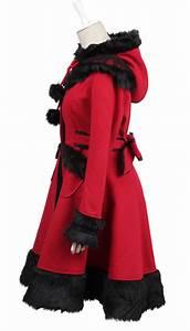 Fausse Fourrure Rouge : manteau rouge et noire chaperon rouge avec fausse fourrure pyon pyon japan attitude vetves218 ~ Teatrodelosmanantiales.com Idées de Décoration
