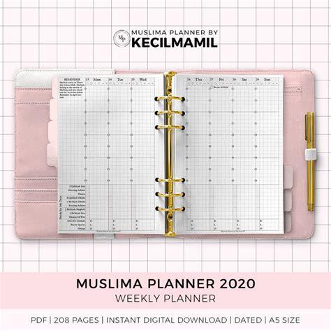 muslima planner   kecilmamil printable instant