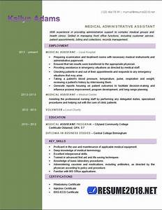 Resume Format For Medical Representative Medical Assistant Resume Examples 2018 Six Templates In