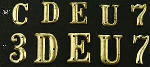 close out insignia brass letters sew on With brass letters for sale