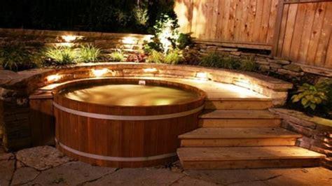 hot tub decor cedar hot tub wood fired hot tub kits