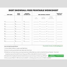 Debt Snowball Free Printable Worksheet, Free Printable Debt Snowball Worksheet  Saving For The