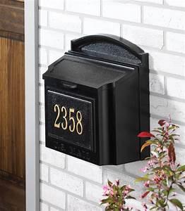 Whiterock, Wall, Mount, Mailbox, Locking