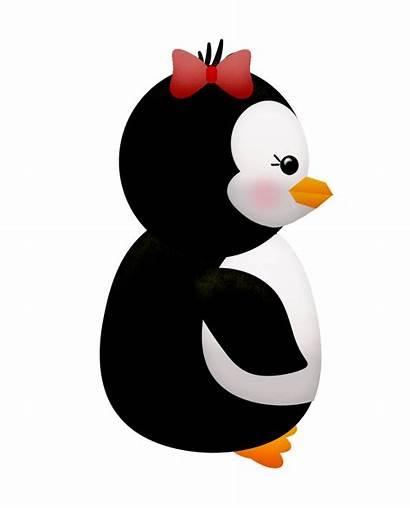 Clip Winter Penguins Flowers Penguin Clipart Its