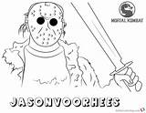 Coloring Mortal Kombat Pages Jason Voorhees Printable Adults Bettercoloring sketch template