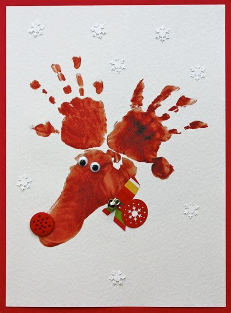 weihnachtskarten mit kindern basteln einfach  ideen
