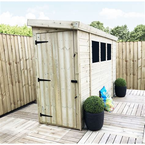 6 x 3 shed 6 x 3 pressure treated tongue and groove pent shed