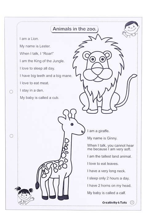 zoo animals worksheet this worksheet is designed to