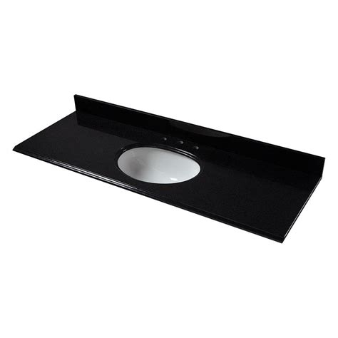 pegasus 61 in granite vanity top in black with white