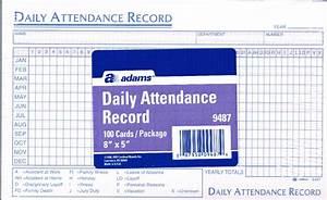 Employee Record Form Adams 9487 Attendance Records
