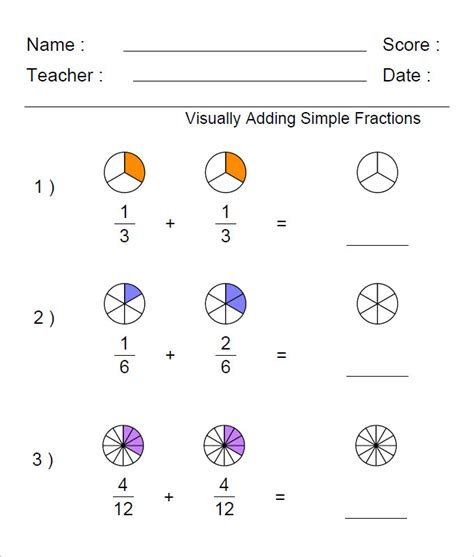 23 Sample Adding Fractions Worksheet Templates  Free Pdf, Word Documents Download Free
