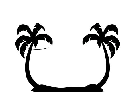 palm tree clipart black and white no background palm tree clip no background clipart panda free