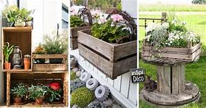 Decorer le jardin avec des cagettes en bois voici 20 idees for Salle de bain design avec décoration noel extérieur jardin