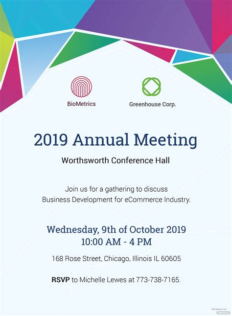annual meeting invitation template  adobe illustrator