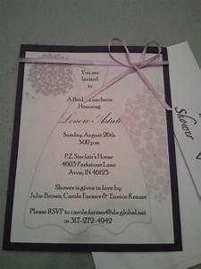 handmade bridal shower invitations bridal showers With handmade wedding invitations by carol