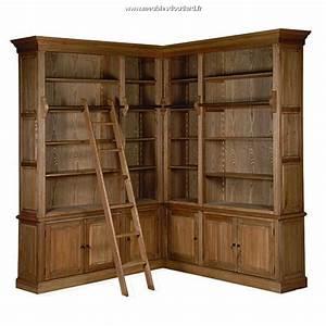 Bibliotheque Chene Massif : biblioth que sur mesures meuble biblioth que en bois massif ~ Teatrodelosmanantiales.com Idées de Décoration